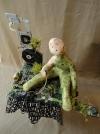 Sculpture ordinateur - Gisèle F - Quand le pouvoir a changé de mains....